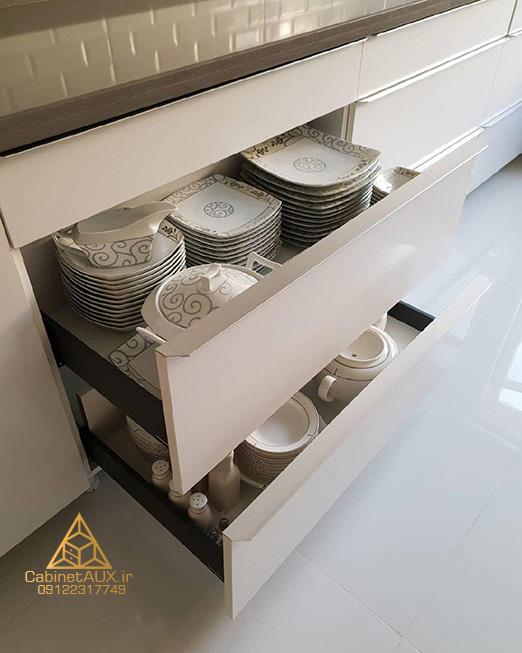 مزایای کشو ها در کابینت آشپزخانه